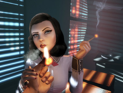 Screenshot; Bioshock Infinite: Burial at Sea. Source: https://bioshock.wikia.com/wiki/Elizabeth