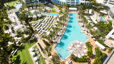 The poolscape at Fontainebleau Miami Beach