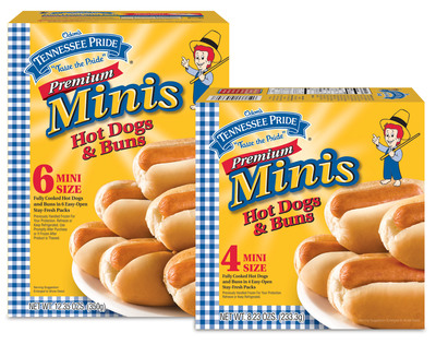 New Premium Mini Hot Dogs and Buns from Tennessee Pride.  (PRNewsFoto/Tennessee Pride)