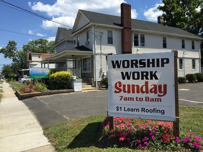 The Humble Headquarters Of RealRoofers, The Foundation For Job Creation,  And Worship Work.