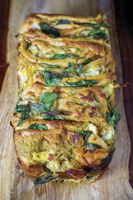 Photo courtesy of Sabra Spinach and Artichoke Hummus Pull Apart Bread