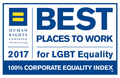 Blue and Yellow logo for Best Place to Work for LGBT Equality