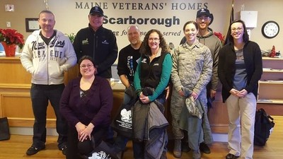 Wounded Warrior Peer Support group gives back to Veterans in Scarborough, Maine during the holiday season.