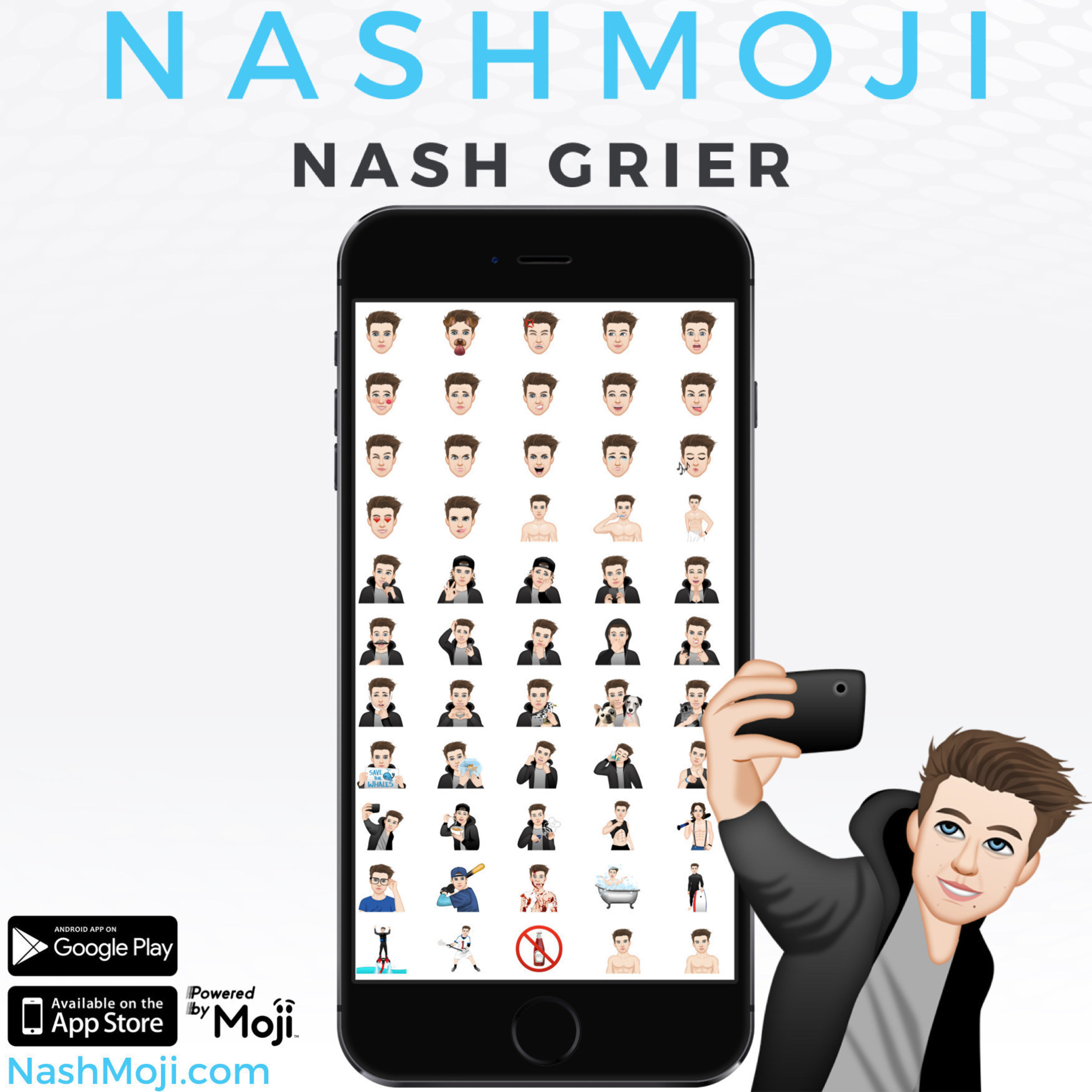 Nash Grier Introduces 'NashMoji' Emoji App, Available Now In The Apple App Store