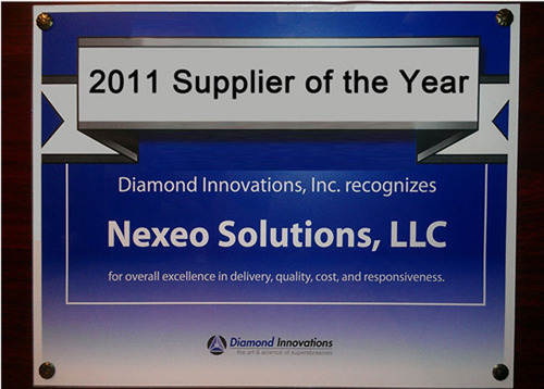Diamond Innovations names Nexeo Solutions as Supplier of the Year