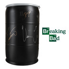 Life-Size Breaking Bad Barrels Signed By Vince Gilligan & Bryan Cranston For Sale On Official Breaking Bad Store On 12/22/2014