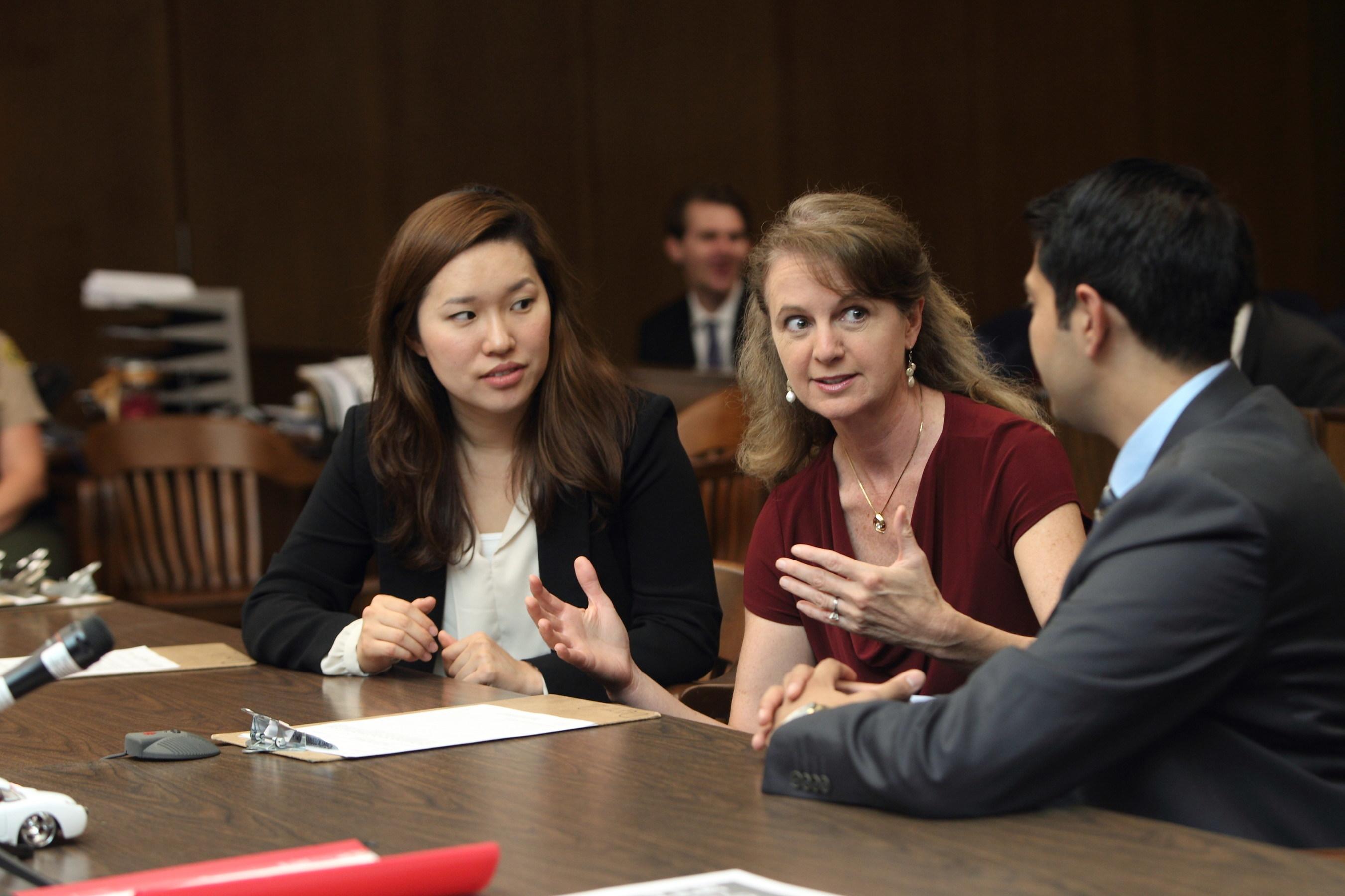 USC Law Prof. Lisa Kerman with ADR students.