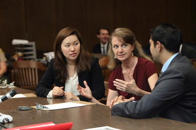 USC Law Prof. Lisa Kerman with ADR students.