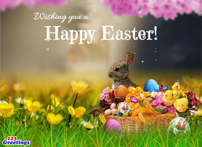 Happy Easter! (PRNewsFoto/123Greetings.com)