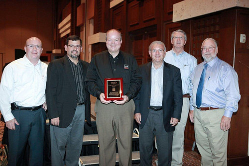 Pictured left to right:  Frank Frederick, National Director of Light Duty Aftermarket Sales, Remy International, Inc.; Mike Mohler, Vice President, National Pronto Association; Gary Bostic, Director of Traditional Light Duty Aftermarket Sales, Remy International, Inc.; Jack Vollbrecht, Senior Vice President Business Development, Remy International, Inc.; Ken Talley, Regional Sales Manager, Remy International, Inc.; Bill Maggs, President, National Pronto Association.  (PRNewsFoto/Remy International, Inc.)