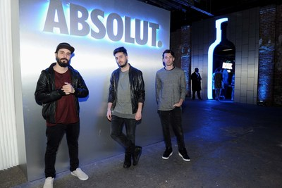 Cash Cash joins Absolut Vodka in NYC on  Nov. 4th to celebrate the return of the limited edition Absolut Electrik bottle and the start of the holiday season