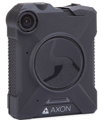 Axon Body 2 camera by TASER International. Axon brand body cameras are deployed by 34 of the largest 68 law enforcement agencies in the U.S.