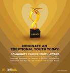 McDonald's USA calls on communities nationwide to nominate this year's 365Black Community Choice Youth Award recipients. Now through May 31, consumers can visit www.365Black.com to nominate a teen who has exemplified exceptional leadership in their communities. One male and one female recipient will each receive a $10,000 scholarship and will be honored alongside celebrities, philanthropists and influencers at the 12th annual McDonald's 365Black Awards in New Orleans.