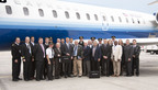 SkyWest Airlines and Jeppesen team members at the launch of Airside Service.  (PRNewsFoto/SkyWest Airlines)