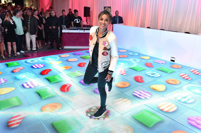 Ciara joins King Digital Entertainment at the Primary Wave pre-Grammy party to unveil a one-of a-kind interactive Jelly dance floor to celebrate the recent launch of the game Candy Crush Jelly Saga