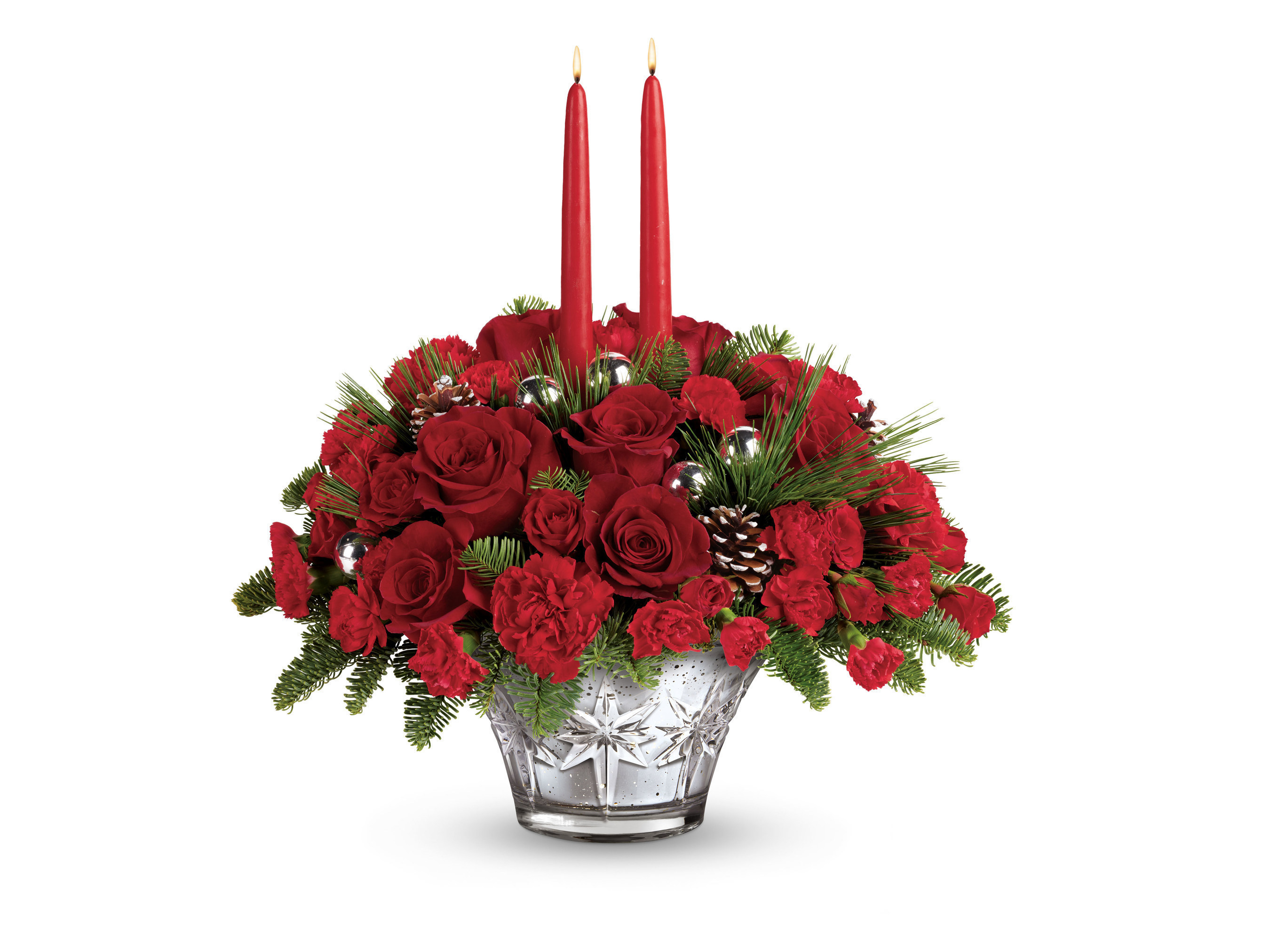 Cant be there this holiday season deliver yourself with telefloras sparkling star centerpiece from its new 2016 holiday collection teleflora solutioingenieria Gallery