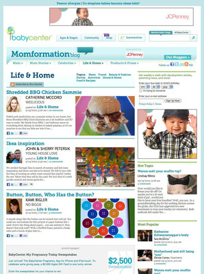 BABYCENTER® Re-Launches Its Top 10 Mom Blog With Fresh Faces And A Brand-New Look
