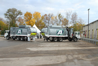 Advance Disposal's new CNG fueling station built by TruStar Energy in Hartland, Wisconsin.
