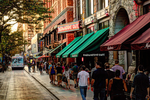 Denver's 16th Street Mall is once again The Mile High City's top attraction, as per the 2012 Longwoods ...