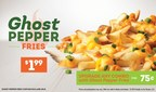 Wendy's Ghost Pepper Fries, available for $1.99 and for a limited time, are the spicy sidekick to Wendy's Jalapeno Fresco Spicy Chicken Sandwich. The Ghost Pepper Fries are smothered in cheese sauce and then topped with diced, fresh jalapenos, shredded cheddar cheese and a ghost pepper sauce.
