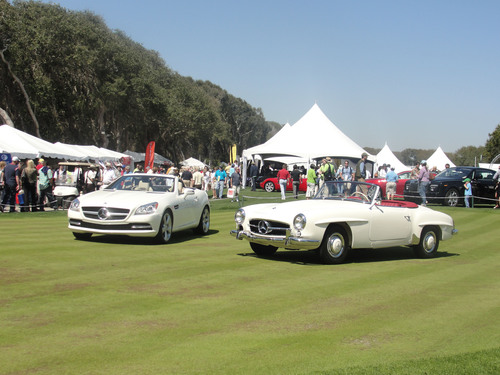 Mercedes-Benz Club of America (MBCA) will display their Mercedes-Benz vehicles in the second annual Cars and Coffee at the Concours at the Golf Club of Amelia Island, Saturday, March 8 in Amelia Island, Florida. MBCA is the largest Mercedes-Benz enthusiast organization in the world with 30,000 members in 85 chapters in North America. $49 annual membership for owners, non-owners and lessees. Visit mbca.org or call 800.637.2360.  (PRNewsFoto/Mercedes-Benz Club of America)