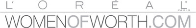 Logo de Women of Worth.  (PRNewsFoto/L'Oreal Paris)
