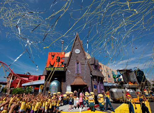 Universal Orlando's all-new attraction, Despicable Me Minion Mayhem, officially opened to guests on Monday,  ...