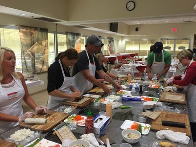 A group of Wounded Warrior Project veterans recently learned the art of sushi-making during a cooking class in Tallahassee.