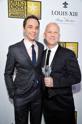 BEVERLY HILLS, CA - JUNE 19: (L-R) Actor Jim Parsons (L) and writer-director Ryan Murphy pose with the Critics' Choice LOUIS XIII Genius Award during the 4th Annual Critics' Choice Television Awards at The Beverly Hilton Hotel on June 19, 2014 in Beverly Hills, California.  (Photo by John Sciulli/Getty Images for LOUIS XIII)
