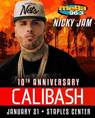 Nicky Jam resalta como el unico artista latino en la lista de los videos mas populares en YouTube del 2016 y cantara en la edicion especial del decimo aniversario de Calibash