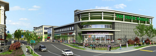 Rendering Of The Fresh Market Grocery Store Located At One Loudoun In Ashburn, Virginia.  (PRNewsFoto/One ...
