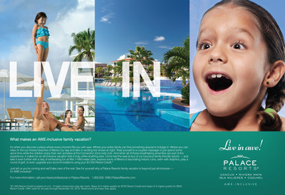 "Palace Resorts unveils groundbreaking ""Live In Awe"" Campaign.  (PRNewsFoto/Palace Resorts)"