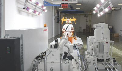 Sled system with M=Light LEDs and Data Acquisition at Takata Brazil. (PRNewsFoto/MESSRING Systembau GmbH) (PRNewsFoto/MESSRING Systembau GmbH)