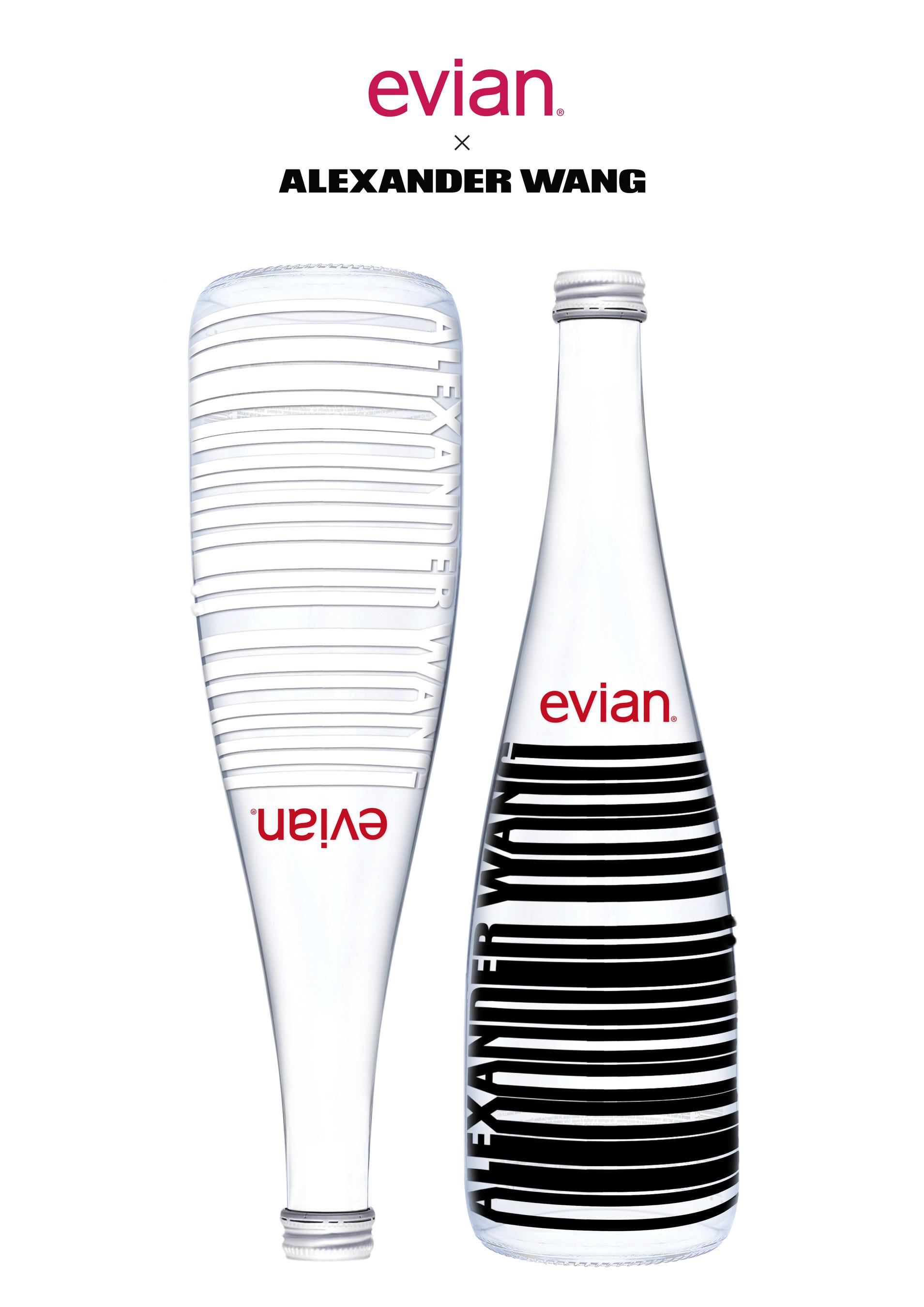 evian + Alexander Wang Limited Edition Bottle