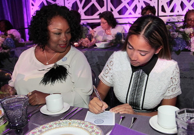 """During The Black Women's Agenda, Inc. (BWA) 39th Annual Symposium Awards Luncheon, attendees were encouraged to participate in BWA's """"Four For 4"""" get-out-the-vote initiative by signing pledge cards ensuring that at least four people, including themselves, vote in the November 2016 election. (Paul Morigi/AP Images for The Black Women's Agenda, Inc.)"""