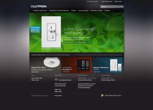 Lutron Electronics Redesigns, Relaunches Lutron.com