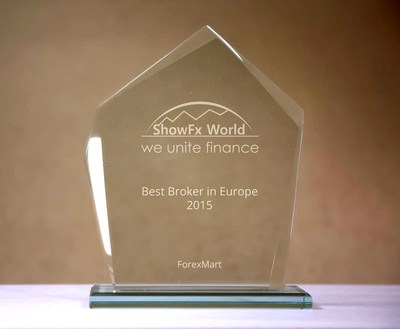 ShowFx World recognized ForexMart as Best Broker in Europe in 2015 (PRNewsFoto/Forexmart.com) (PRNewsFoto/Forexmart.com)