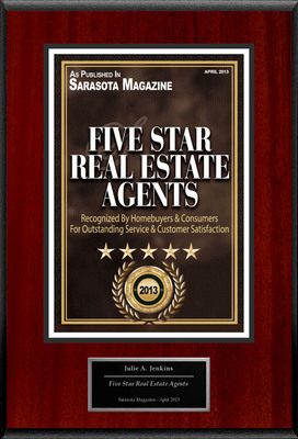 "Julie Jenkins Selected For ""Five Star Real Estate Agents"". (PRNewsFoto/American Registry) (PRNewsFoto/AMERICAN REGISTRY)"
