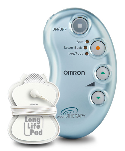 Omron's electroTHERAPY Pain Relief Unit is a simple, drug-free solution for relief of achy, stiff or sore muscle and joint pain. Available without a prescription, this easy-to-use TENS unit can help manage your pain in as little as 15 minutes.  (PRNewsFoto/Omron Healthcare, Inc.)