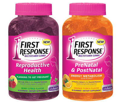 Expanding Brand Portfolio, First Response Introduces PrePregnancy and Pregnancy / PostNatal Care Gummy Vitamin Products To Support an Essential Part Of Women's Reproductive and Pregnancy Health