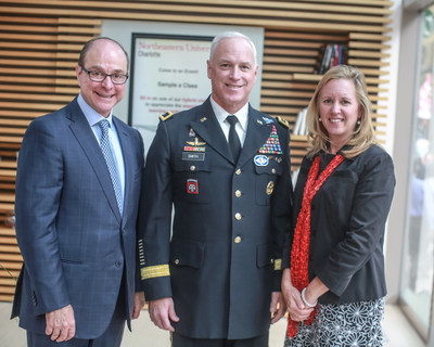 (L to R) Northeastern University President Dr. Joseph Aoun, Fort Bragg Deputy Commanding General, Major General Jefforey Smith and CEO & Regional Dean of Northeastern University's Charlotte Campus, Dr. Cheryl Richards.