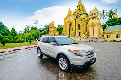 Ford Motor Company today celebrated the grand opening of its first dealership in Myanmar. In April, Ford became the first global automaker to announce its entry into the Myanmar market.  (PRNewsFoto/Ford Motor Company)