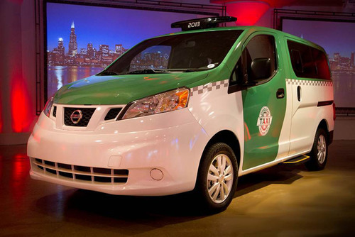 NISSAN UNVEILS CUSTOMIZED CHICAGO NV200 TAXI AT CHICAGO AUTO SHOW. (PRNewsFoto/Nissan North America) ...