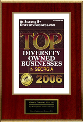 "Creative Corporate Ideas Inc. Selected For ""Top Diversity Owned Businesses In Georgia.""  (PRNewsFoto/Creative Corporate Ideas Inc.)"