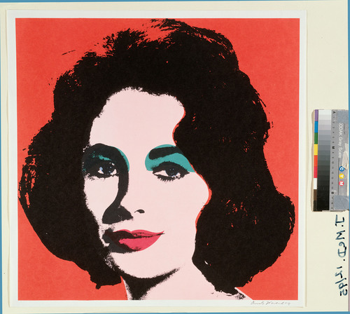 Andy Warhol, Liz, 1964, color offset lithograph, Fine Arts Museums of San Francisco; Museum Purchase, Achenbach  ...
