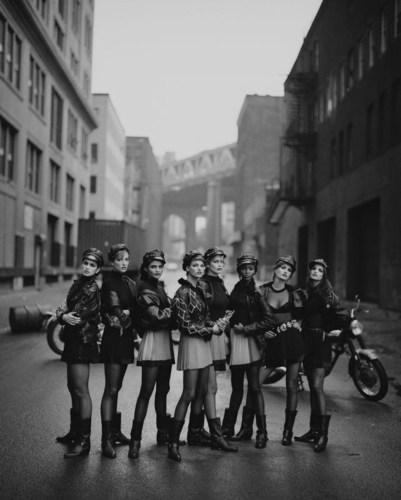 Photo credit: Peter Lindbergh, Wild At Heart (Cindy Crawford, Tatjana Patitz, Helena Christensen, Linda ...