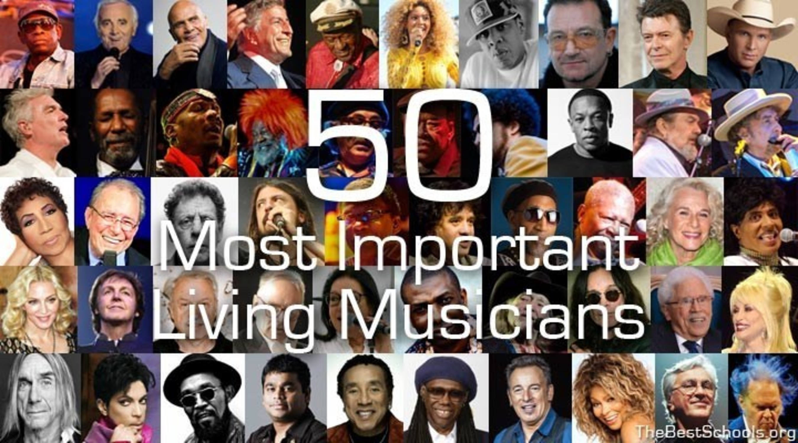 TheBestSchools.org Announces Publication of 'The 50 Most Important Living Musicians'