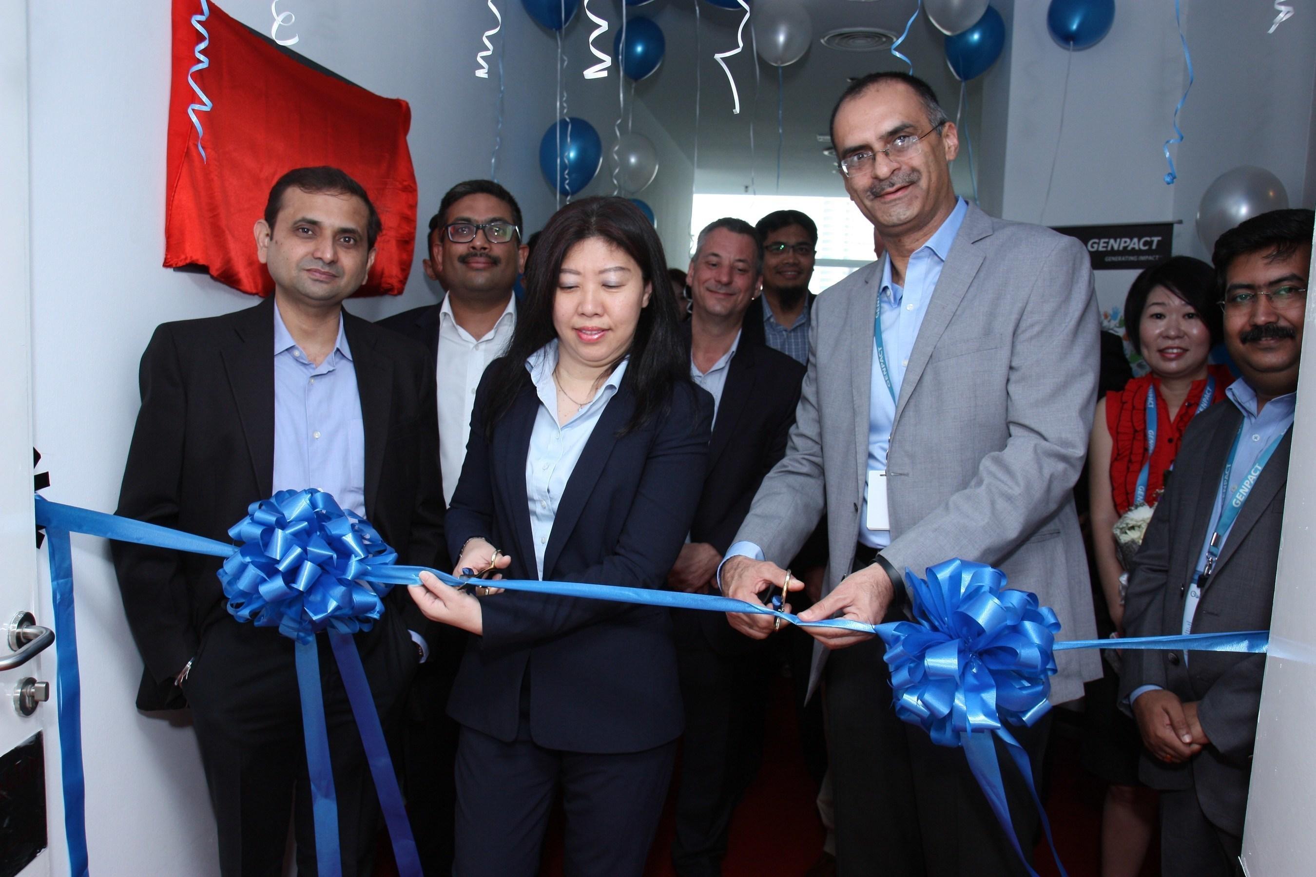 Genpact opens its new Kuala Lumpur, Malaysia center, joined by Ms. Dato Wan Peng, COO of Malaysia Digital Economy Corporation (MDEC).