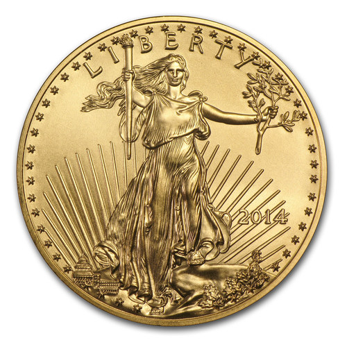 APMEX is now an Authorized Purchaser from the United States Mint for Gold coins like this 2014 American Eagle One Ounce Gold Coin. (PRNewsFoto/APMEX, Inc.)