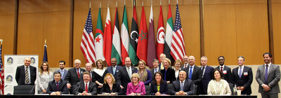 Eleven U.S. Chiefs of Mission assigned to the Middle East and North Africa, eight Arab Chiefs of Mission stationed in Washington, DC, and over 400 attendees actively participated in the third annual Ambassadors Forum in March 2015.